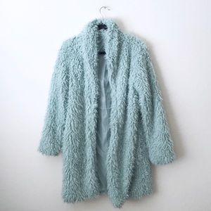 Wild Fable Mint Fur Coat